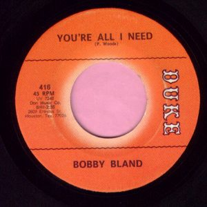 "Bobby Bland "" You're All I Need "" Duke Vg+"