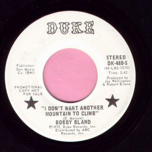 "Bobby Bland "" I Don't Want Another Mountain To Climb "" Duke Demo Vg+"