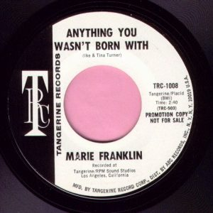 "Marie Franklin "" Anything You Wasn't Born With "" Tangerine Demo Vg+"