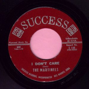 "The Martinels "" I Don't Care "" Success Vg+"