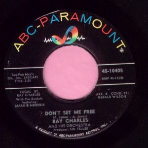 "Ray Charles "" Don't Set Me Free "" ABC Records Vg+"