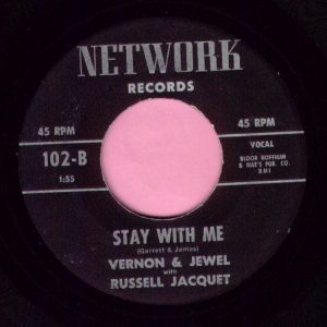"Vernon & Jewel "" Stay With Me "" Network Vg+"