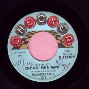 "Margaret & Carol "" Oh No , He's Mine "" Checker Demo Vg+"