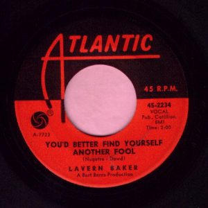 "Lavern Baker "" You Better Find Yourself Another Fool "" Atlantic Vg"