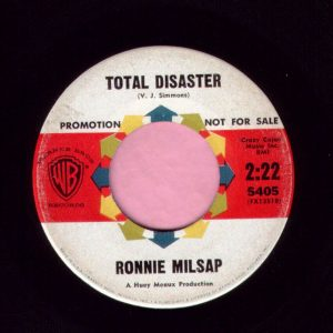 "Ronnie Milsap "" Total Disaster "" / "" It Went To Your Head "" Warner Brothers Demo Vg+"