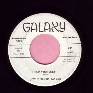 "Little Johnny Taylor "" Help Yourself "" Galaxy Demo Vg+"