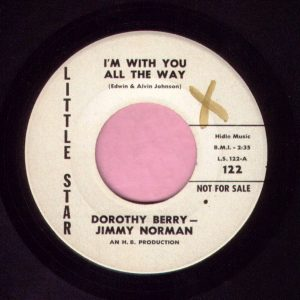 """Dorothy Berry – Jimmy Norman """" I'm With You All The Way """" Little Star Demo Vg+"""