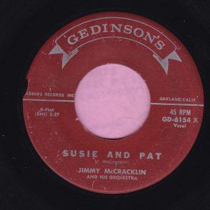 "Jimmy McCracklin "" Susie And Pat "" Gedinson's Vg"