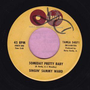 """Singin' Sammy Ward """" Someday Pretty Baby """" Tamla Vg"""
