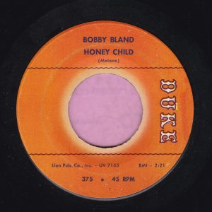 "Bobby Bland "" Honey Child "" Duke Vg+"