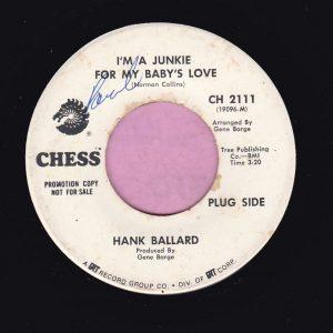 "Hank Ballard "" I'm A Junkie For My Baby's Love "" Chess Demo Vg"
