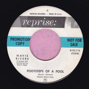 "Mavis Rivers "" Footsteps Of A Fool "" Reprise Demo Vg+"