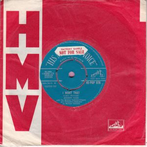 "Johnny Kidd "" I Want That "" H.M.V. Vg+"