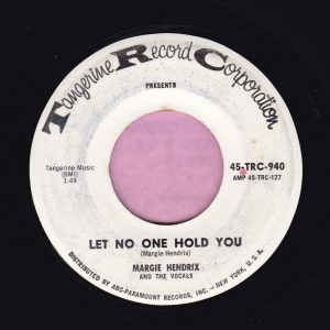 """Margie Hendrix """" Let No One Hold You """" Tangerine Records Demo Vg"""