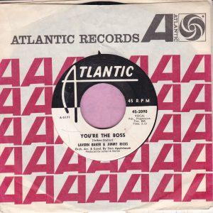 """Lavern Baker & Jimmy Ricks """" Your The Boss """" Atlantic Demo Vg"""
