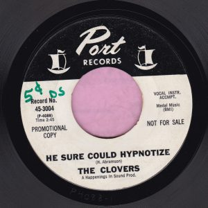 """The Clovers """" He Sure Could Hypnotize """" Port Records Demo Vg"""