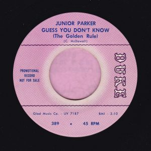 """Junior Parker """" Guess You Don't Know ( The Golden Rule ) """" Duke Demo Vg+"""