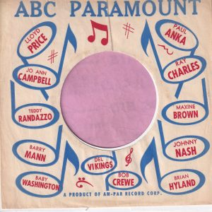 ABC Paramount Various Artists U.S.A. Company Sleeve 1961