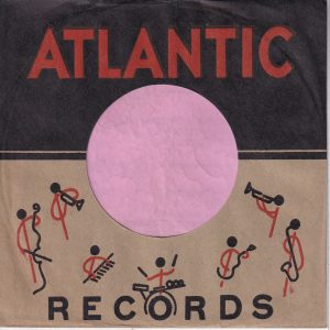 Atlantic Records U.S.A. Artists Graphics Redrawn , Three Lines Of Text Company Sleeve 1953 – 1960