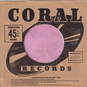 Coral Records U.S.A. Company Sleeve 1952 – 1958