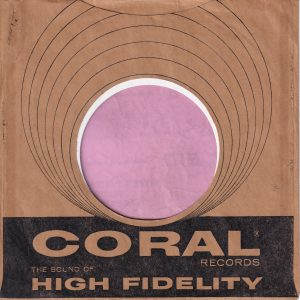 Coral Records U.S.A. Company Sleeve 1959 – 1962