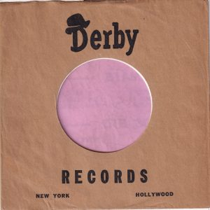 Derby Records U.S.A. Company Sleeve 1952 – 1954