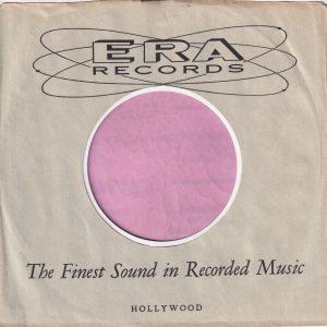 Era Records U.S.A. Company Sleeve 1959 – 1960