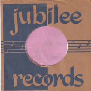 Jubilee Records U.S.A. Company Sleeve 1953 – 1955