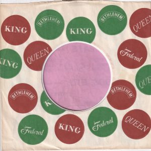 King Federal Bethlehem Queen U.S.A. Company Sleeve 1962 – 1966