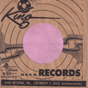 King Federal Deluxe Cincinati 7 U.S.A. Company Sleeve Black 1953 – 1958