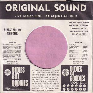 Original Sound U.S.A. Company Sleeve 1964