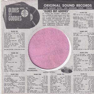 Original Sound U.S.A. Company Sleeve 1968 – 1970