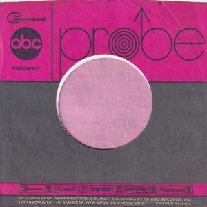 Probe U.S.A. Company Sleeve 1968 – 1970