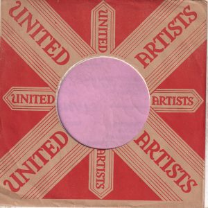United Artists U.S.A. Company Sleeve 1957 – 1960