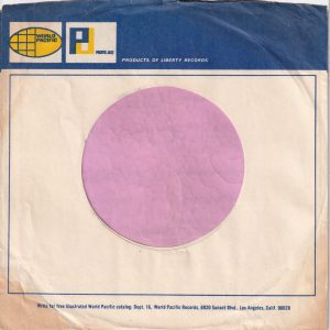 World Pacific U.S.A. Company Sleeve 1966 – 1969