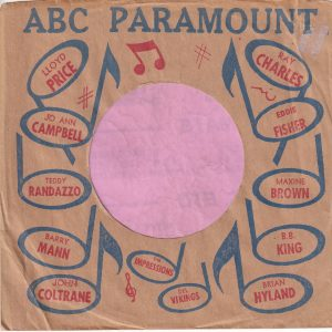 ABC Paramount Various Artists U.S.A. Company Sleeve 1960 – 1961
