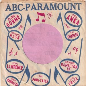 ABC Paramount Various Artists U.S.A. Company Sleeve 1960