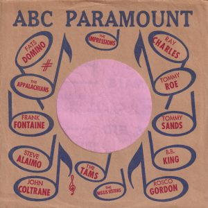 ABC Paramount Various Artists U.S.A. Company Sleeve 1964