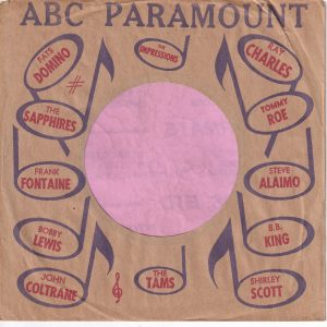 ABC Paramount Various Artists U.S.A. Company Sleeve 1964 – 1966
