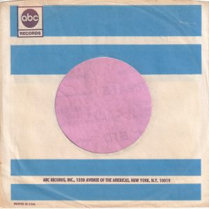 ABC Records U.S.A. Company Sleeve 1967 – 1968