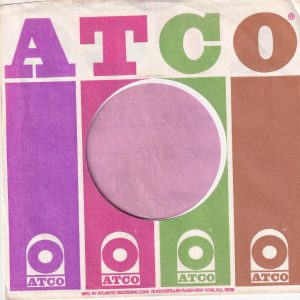 Atco B'way Address U.S.A. Company Sleeve 1972 – 1974
