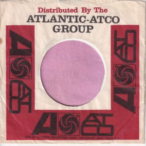 Atlantic Atco Group U.S.A. Address On Both Sides Company Sleeve 1966 – 1969