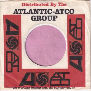 Atlantic Atco Group U.S.A. Address On One Side Printed On White Border Company Sleeve 1966 – 1969