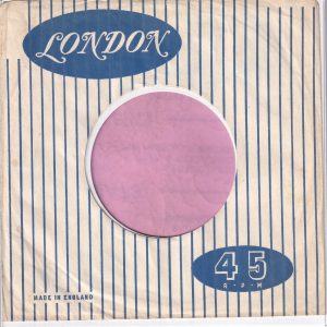 London U.K. Company Sleeve 1960 – 1967