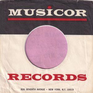 Musicor Records U.S.A. 826 Seventh Avenue New York N.Y. 10019 Address Company Sleeve 1964 – 1965