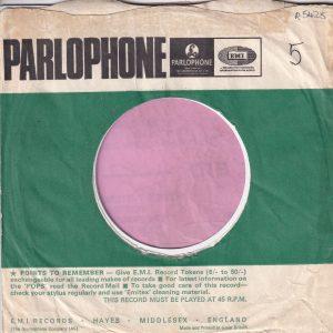 Parlophone U.K. Company Sleeve 1965 – 1966