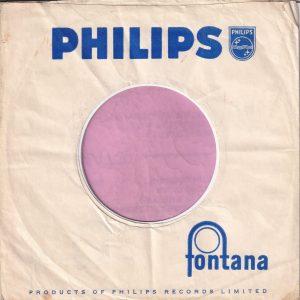 Philips Fontana U.K. Company Sleeve 1960 – 1963