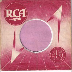 RCA U.K. Company Sleeve 1957 – 1959