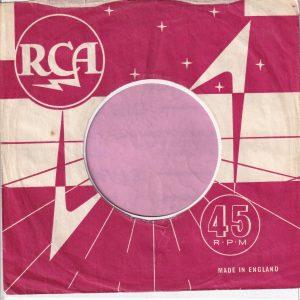 RCA U.K. Company Sleeve 1960 – 1968