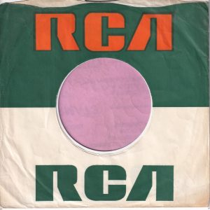 RCA U.K. Company Sleeve No Advert 1969 – 1970